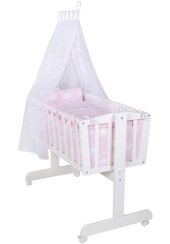 roba® Stubenbett »Komplettwiege, Kleine Wolke rosa«, mit Komplettausstattung kaufen