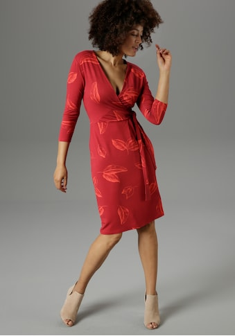 Aniston SELECTED Jerseykleid, mit femininem Wickel-Ausschnitt - NEUE KOLLEKTION kaufen