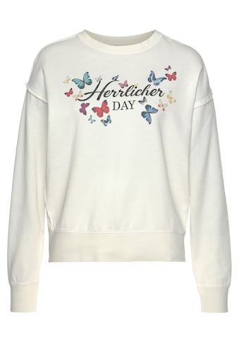 Herrlicher Sweatshirt »CARRIE«, mit Multicolor-Butterfly-Print vorn kaufen