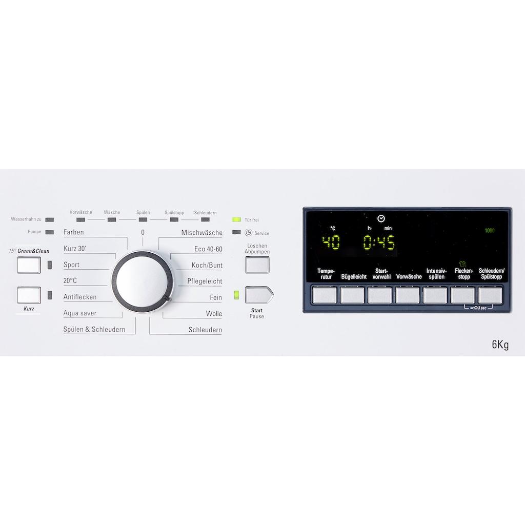 BAUKNECHT Waschmaschine Toplader »WAT 6312 N«, WAT 6312 N, 6 kg, 1200 U/min