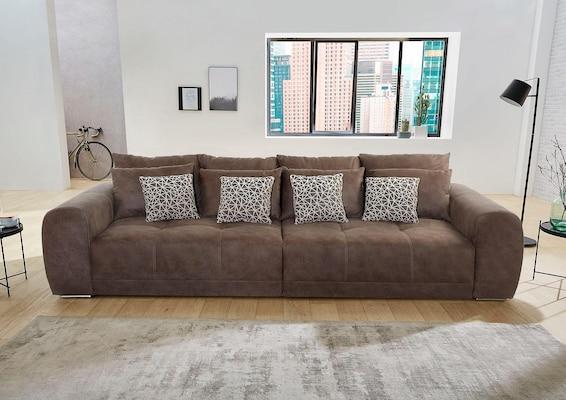 Big-Sofa in Braun
