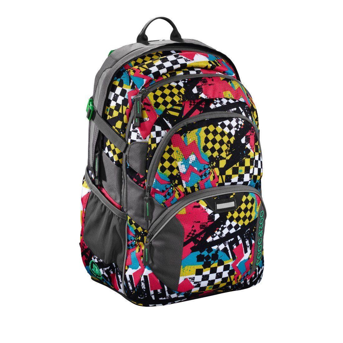 coocazoo Rucksack ´´JobJobber2´´ mit Laptopfach »Checkered Bolts« | Taschen > Rucksäcke > Sonstige Rucksäcke | Bunt | COOCAZOO