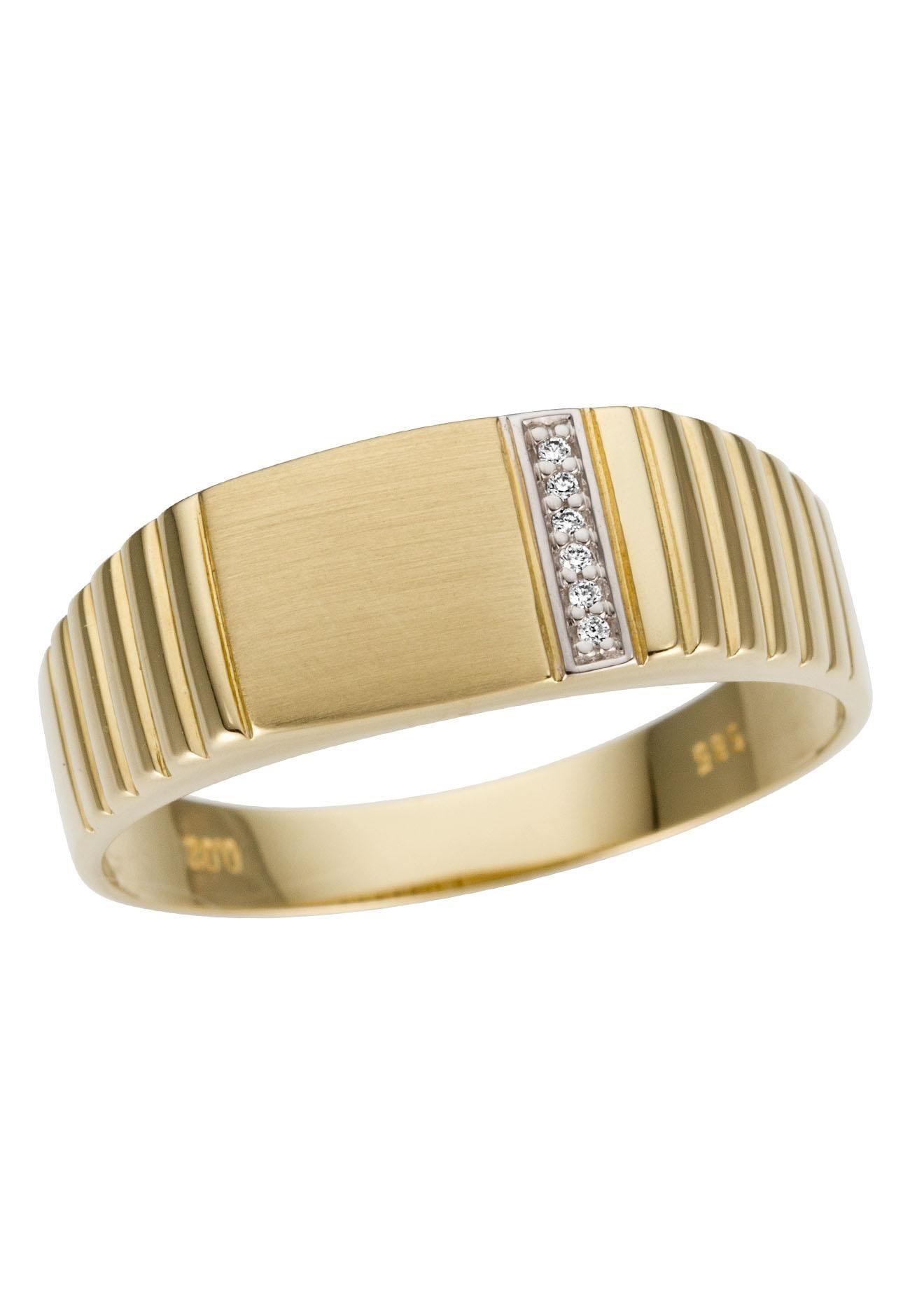 Firetti Goldring »Glanz, rhodiniert, matt, massiv« | Schmuck > Ringe | Firetti