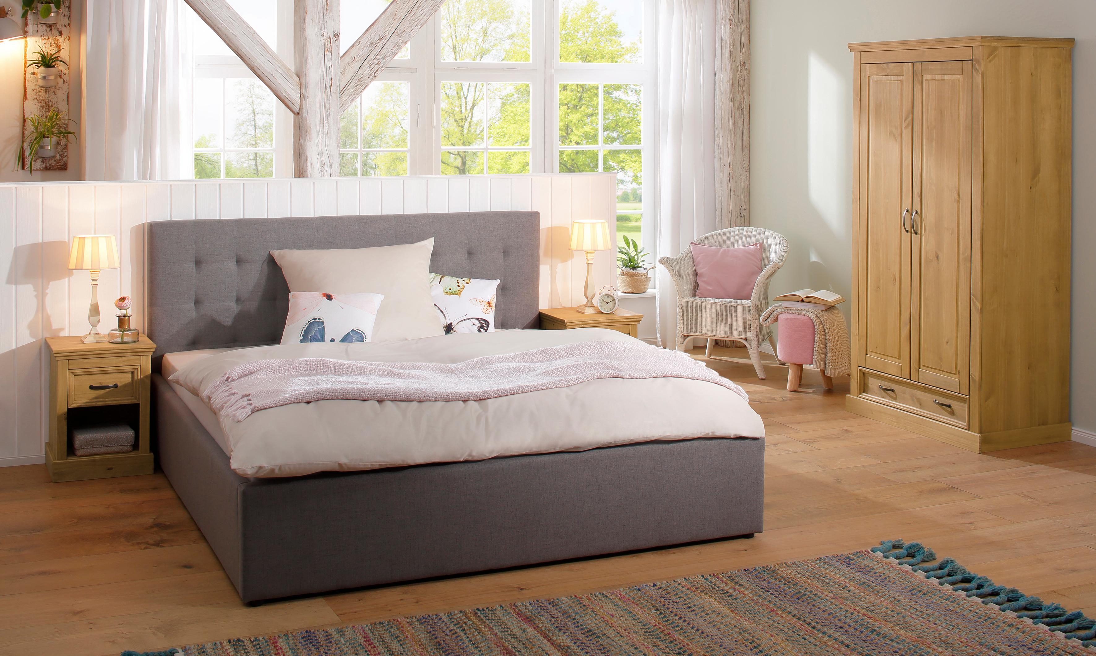 Home Affaire zweitüriger Kleiderschrank »Selma« für das Schlafzimmer, aus  massiven Holz, Höhe 190 cm