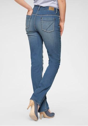 Arizona Gerade Jeans »Comfort-Fit«, High Waist mit Kontrastnähten kaufen