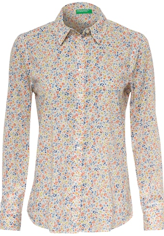 United Colors of Benetton Hemdbluse »Bluse«, mit individuellem Minimalprint kaufen