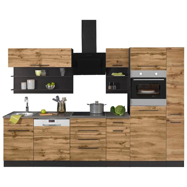 HELD MÖBEL Küchenzeile »Tulsa«, mit E-Geräten, Breite 300 cm