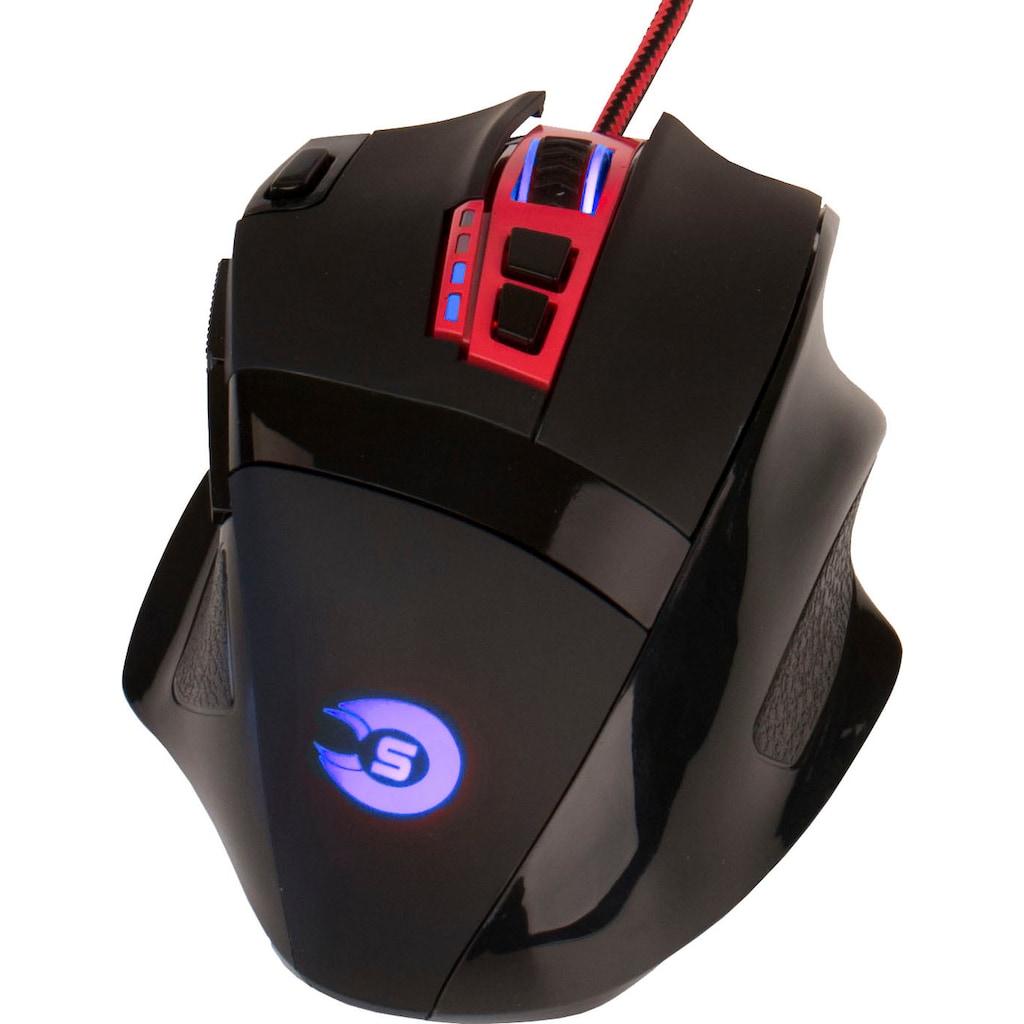 Hyrican Gaming-PC »Alpha 6676«, Gaming-Maus und Tastatur mit RGB-Beleuchtung, WLAN: Intel® CNVI interface 802.11, Bluetooth 5.1, LAN: 2.5 Gbit/1 Gbit/100 Mbit on Board