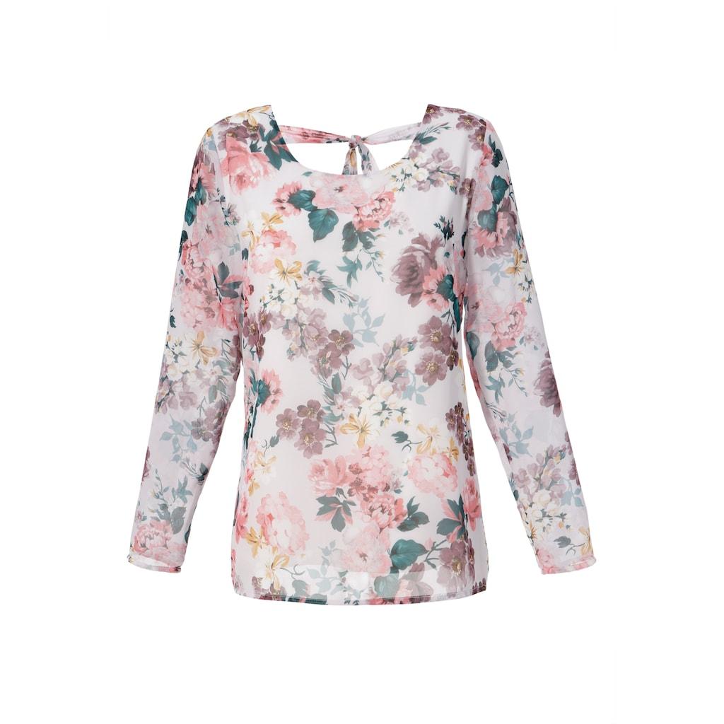 Aniston CASUAL Schlupfbluse, mit romantischem Blumendruck