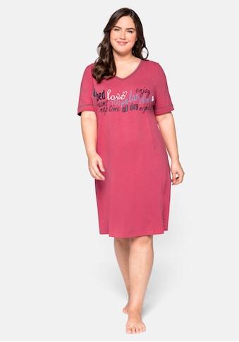 Sheego Nachthemd, mit Statementdruck kaufen