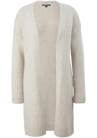 Comma Longstrickjacke, aus hochwertigem Materialmix mit Alpaka und Wolle kaufen