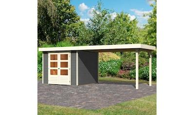 KARIBU Set: Gartenhaus »Arnis 3,5«, BxT: 529x262 cm, mit Anbau kaufen
