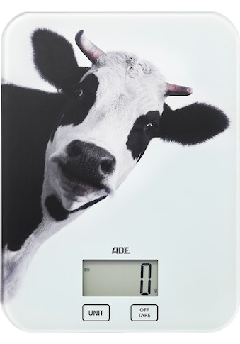 ADE Küchenwaage »KE1603 Inka«, mit Kuh Motiv, Tragkraft 5kg, LCD-Display und Sensor-Touch kaufen
