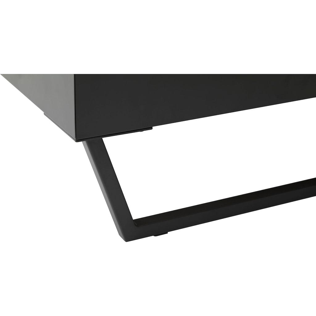 meise.möbel Metallbett »Boston«, Polsterkopfteil mit 4-Punkt-Steppung, diverse Fußvarianten möglich