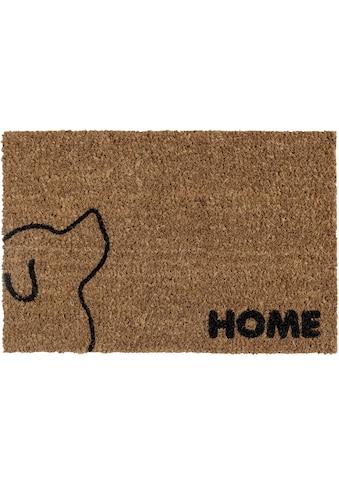 Andiamo Fußmatte »Kokos Hund«, rechteckig, 17 mm Höhe, Schmutzfangmatte, mit Spruch,... kaufen