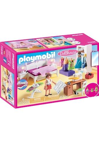 "Playmobil® Konstruktions - Spielset ""Schlafzimmer mit Nähecke (70208), Dollhouse"", Kunststoff, (67 - tlg.) kaufen"