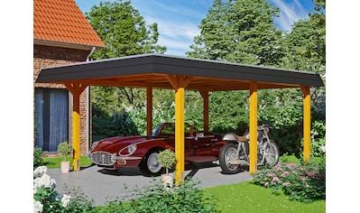 Skanholz Einzelcarport »Wendland«, Leimholz-Nordisches Fichtenholz, 341 cm, hellbraun kaufen