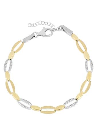 Firetti Armband »Ovale Glieder, im Wechsel rhodiniert, Glanz, teilw. vergoldet,... kaufen