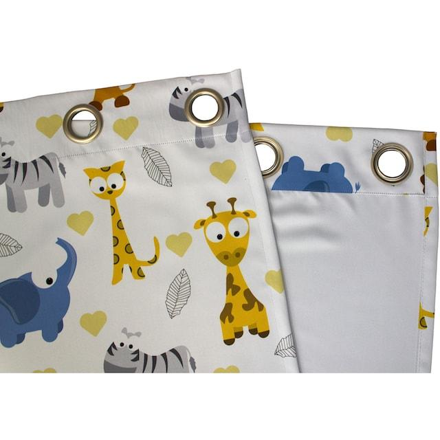 Vorhang, »Zoo«, VHG, Ösen 1 Stück