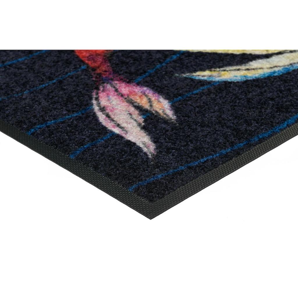 wash+dry by Kleen-Tex Fußmatte »Taro & Suri«, rechteckig, 7 mm Höhe, Schmutzfangmatte, In- und Outdoor geeignet, waschbar
