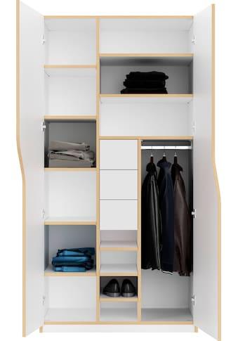 Müller SMALL LIVING Kleiderschrank »PLANE Ausstattung Nr. 6«, inklusive 3 Schubladen und einer Kleiderstange für Blusen und Blazer oder Kinderbekleidung kaufen