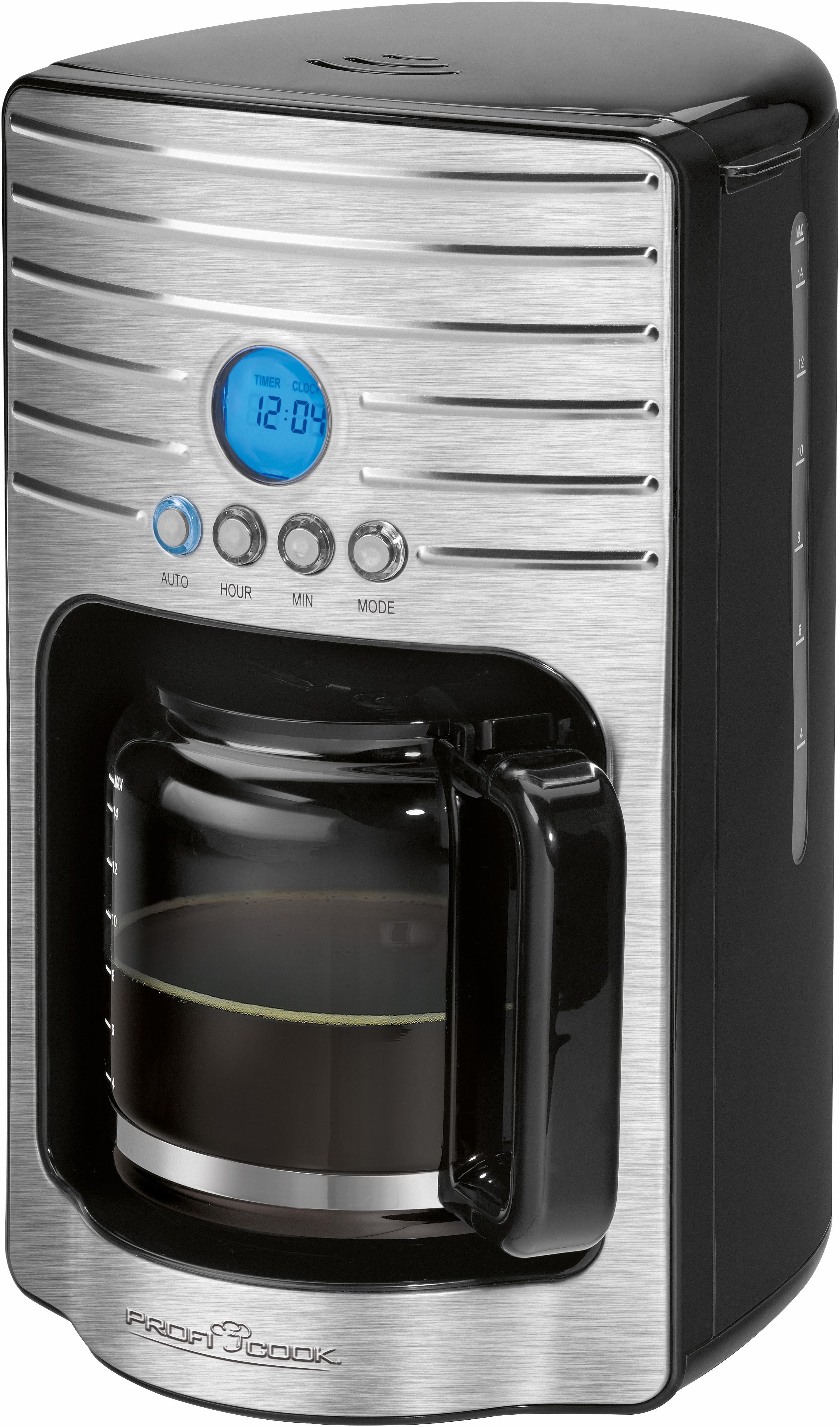 proficook filterkaffeemaschine pc ka 1120 filter 1x4 auf. Black Bedroom Furniture Sets. Home Design Ideas