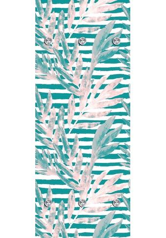 queence Garderobenpaneel »Tropisch«, mit 6 Haken, 50 x 120 cm kaufen