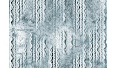 CONSALNET Vliestapete »Geflecht Beton/Türkis«, in verschiedenen Größen kaufen