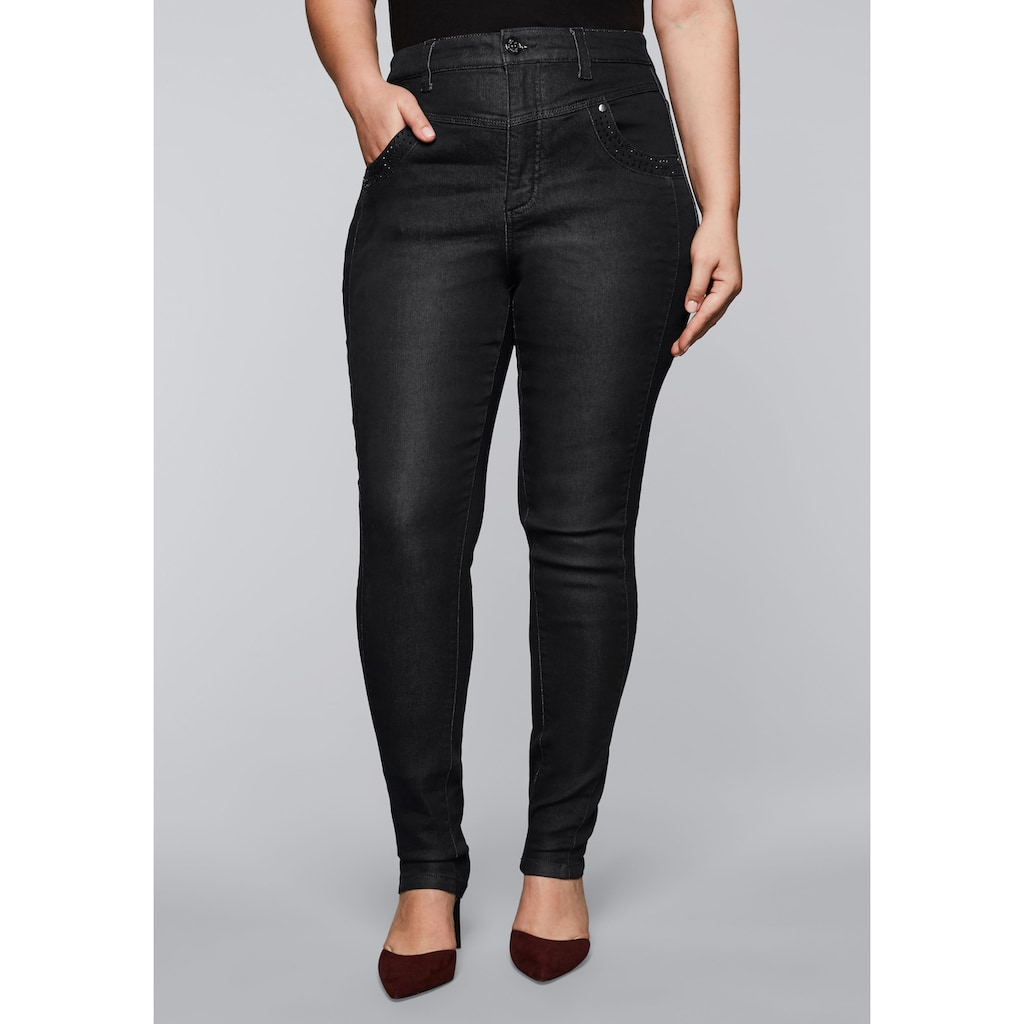 Sheego Stretch-Jeans, in High-Waist-Form