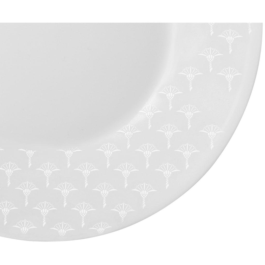 Joop! Speiseteller »JOOP! FADED CORNFLOWER«, (Set, 2 St.), hochwertiges Porzellan mit Kornblumen-Verlauf als Dekor, Ø 28 cm