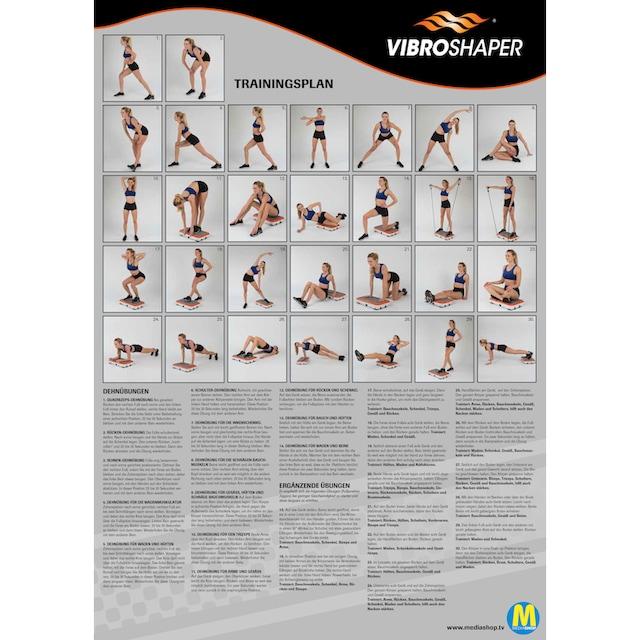 VibroShaper™ Vibrationsplatte 3 Intensitätsstufen 200 Watt (Set, 2-tlg., mit Trainingsbändern)