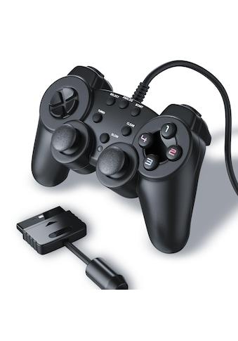 CSL Gamepad für Playstation 2 mit Dual Vibration (Rumble Effekt) kaufen