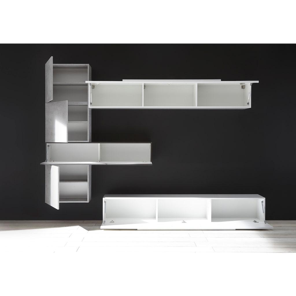 LC Wohnwand »Line/cube«, (Set, 6 St.)