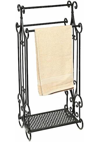 Home affaire Handtuchhalter »Antik«, schwarz, mit 3 Stangen kaufen
