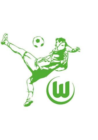 Wall-Art Wandtattoo »VfL Wolfsburg - Fußballspieler« kaufen