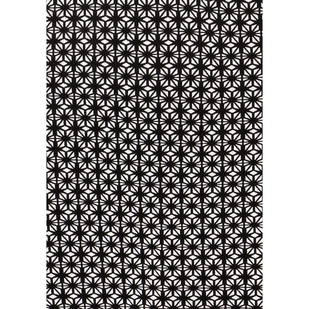 LASCANA 3/4-Arm-Shirt, mit Ringeinsatz in Hornoptik vorn