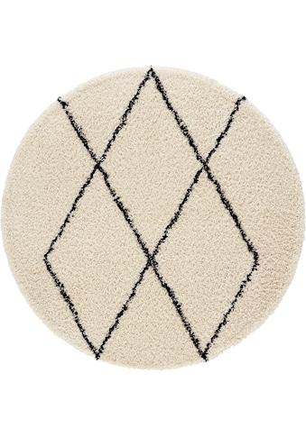 Hochflor - Teppich, »Lene«, andas, rund, Höhe 35 mm, maschinell gewebt kaufen