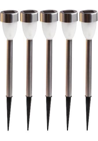 HEITEC LED Gartenleuchte »Tim«, LED-Modul, Warmweiß, Gartenleuchte, Gehäuse teils aus... kaufen