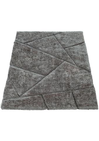 Paco Home Hochflor-Teppich »Palma 334«, rechteckig, 45 mm Höhe, Shaggy mit 3D-Design,... kaufen