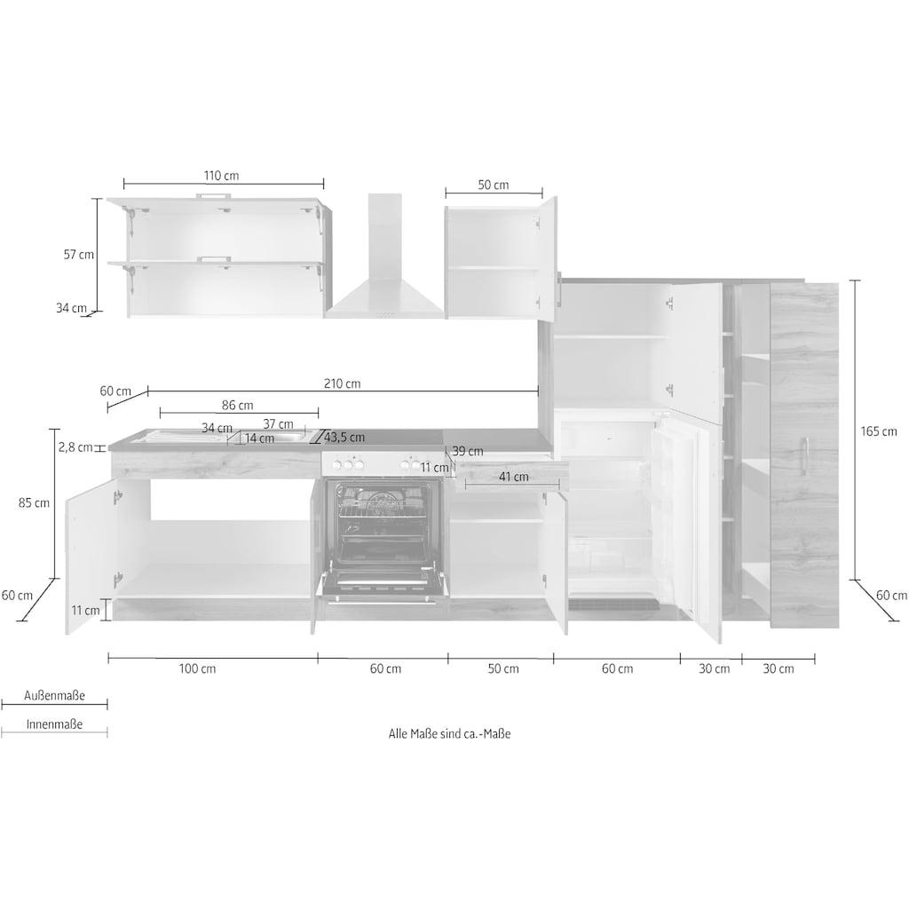 HELD MÖBEL Küchenzeile »Colmar«, ohne E-Geräte, Breite 330 cm