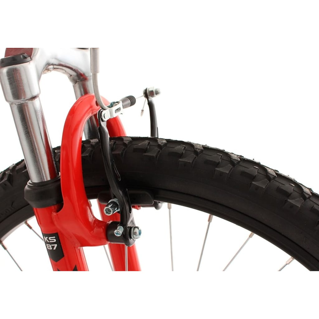 KS Cycling Jugendfahrrad »Zodiac«, 18 Gang Shimano Tourney Schaltwerk, Kettenschaltung