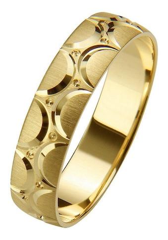Firetti Trauring mit Gravur »gebürstet, Diamantschnitt, 5,0 mm breit« kaufen