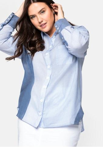 Sheego Longbluse, in leicht transparenter Baumwollqualität kaufen