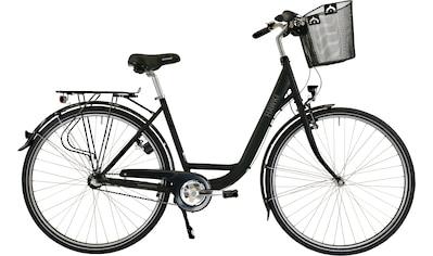 HAWK Bikes Cityrad »HAWK City Wave Premium Plus Black«, 3 Gang, Shimano, Nexus Schaltwerk kaufen