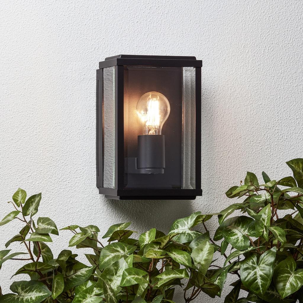 Brilliant Leuchten Außen-Wandleuchte, E27, Gaia Außenwandleuchte schwarz