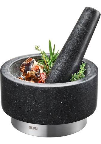 GEFU Mörser »X-PLOSION®«, Granit, Edelstahl, Ø 14 cm kaufen