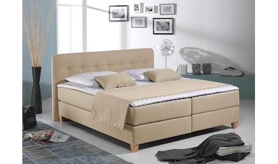 Home affaire Boxspringbett »Fargo«, inkl. Topper, in 3 Matratzenarten, 2 Härtegraden, vielen Farben kaufen