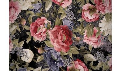 CONSALNET Papiertapete »Muster mit roten Blumen«, in verschiedenen Größen kaufen