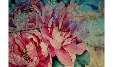 CONSALNET Papiertapete »Bunte Vintage Blumen«, in verschiedenen Größen kaufen