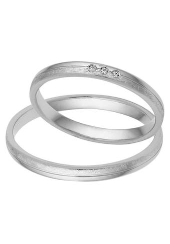 Firetti Trauring mit Gravur »2,5 mm, glanz, Eismattierung, mit Diamantschnitt« kaufen